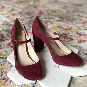 Louise & Cie Suede Mary Janes w/Box